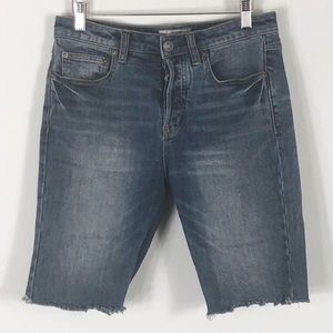 Free People High Waist Jean Shorts Size 25
